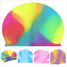 Sports Silicone Swimming Cap Bathing Hat Unisex Adult Elasticity Waterproof S