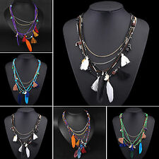 SM New Women Jewelry Pendant Crystal Choker Chunky Statement Chain Bib Necklace