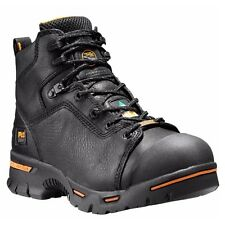 "TIMBERLAND PRO Men's 47592001 6"" Endurance Black Full-Grain Steel Toe Work Boots"