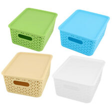 Household Plastic Trinket Charger Table Collector Storage Box Case 2pcs