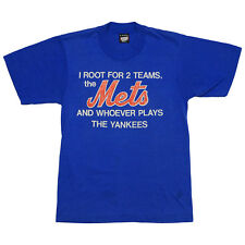 I Root For The Mets & Whoever Plays The Yankees 1980s Vintage MLB t Shirt 80s