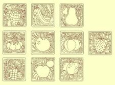 Fruit Redwork & Trapunto Machine Embroidery CD-30 Designs-by Anemone Embroidery