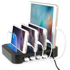 Detachable Universal Multi-Device 4-port USB Charging Station Dock 24W US Stock