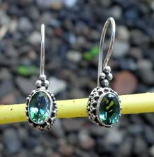 Gemstone Sterling Silver, 925 Balinese Traditional Design Earring 39015