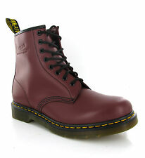Dr Martens 1460 Smooth Cherry Leather 8 Eye Ankle Unisex Boots UK3-15