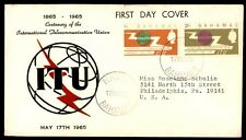 1965 Centenary telecommunication Union cachet colored on cover