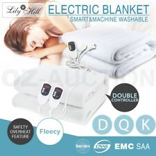 New Fleecy Electric Blanket Heated Fully Fitted Double King Queen Size Bed