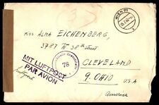 Austria Wien 71 to United States 1948 Postwar Censored Cover Per Air