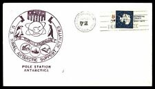 USN POLE STA ANTARCTICA JUN 21 1972 OPERATION DEEP FREEZE PURPLE CACHET ON COVER