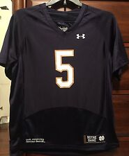 New Notre Dame Fighting Irish YOUTH Under Armour Boy JERSEY #5 Sz YL Loose Large
