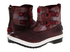 UGG Plaid Marrais Double Buckle Waterproof Lined Leather Upper Boots Wms 11 NIB