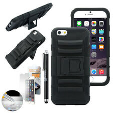 """Shockproof Rugged Hybrid Rubber Hard Cover Case for iPhone 6 6S 4.7"""" Plus 5.5"""""""