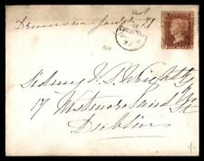 1877 One penny classic cover to Dublin Ireland single franked