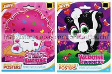 SAVVI* 12 Sheets MAGIC PAINT POSTER Arts+Crafts VALENTINES DAY Kids *YOU CHOOSE*
