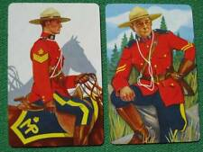 RCMP Royal Canadian Mounted Police Beautiful Art Swap Cards Vintage 1950's MINT