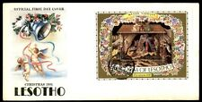 Christmas 1981 Lesotho Mystic Nativity first-day cover with cachet
