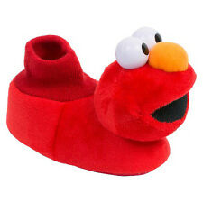 ELMO SESAME STREET Red Plush Sock Top Slippers NWT Toddler's Sizes 7/8 or 9/10