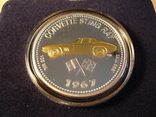 1967 Corvette Stingray Coin Medallion 67 Chevrolet Chevy Sting Ray New in Box