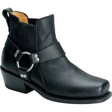 Mens Leather Motorcycle short Harness boot by altimate