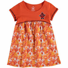 Syracuse Orange Colosseum Girls Toddler Fountain Floral Dress - Orange - NCAA