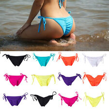 Sexy Bikini Women Brazilian Cheeky Tie Side Bottom Thong Swimwear Swimsuit HOT