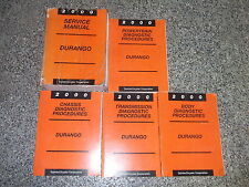 2000 Dodge Durango Service Repair Shop Manual Set OEM FACTORY BOOKS MOPAR 2000