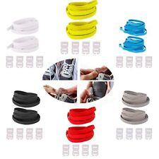 1 Pair No Tie Elastic Shoelaces with 4 Locking Closures Sneaker Shoe Laces