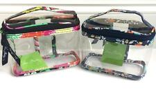 Vera Bradley CLEAR TRAVEL COSMETIC 3-1-1 Carry-On Compliant Choose Pattern NWT
