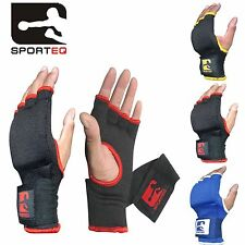 Sporteq MMA Gloves Boxing Hand Wraps Fist Protector Inner Gel Padded Bandages