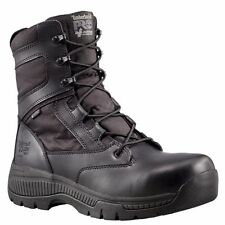 "TIMBERLAND PRO Men's 1168A001 8"" Valor Black Nylon Soft Toe Work Boots"