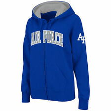 Air Force Falcons Stadium Athletic Women's Arched Name Full-Zip Hoodie - Royal