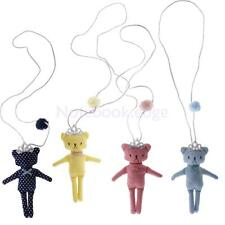 Kid Lovely Cute Dots Bear Toy with Crown Pendant Necklace Chain Girl Accessories