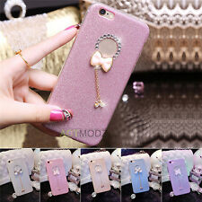 Luxury Crystal Diamond Pendant TPU Back Case Cover Skin For iPhone 6 6S 7 Plus