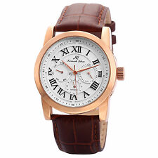 KS Luxury Men's Automatic Mechanical Date Day Display Leather Wrist Watch