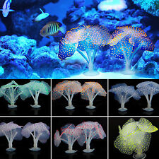 Soft Silicone Artificial Coral Fish Tank Aquarium Plastic Water Decor Ornament