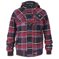 Fly53 Herman 'Indie' Duffle Coat/Jacket *Red Check* *BNWT* *Various Sizes*