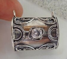 Zircon Solid Silver, 925 Balinese Locket Design Pendant 35464