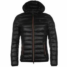 883 Police Mens Downer Jacket Quilted Warm Chin Guard Hooded Full Zip Top