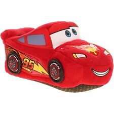 CARS LIGHTNING McQUEEN DISNEY Slippers Toddlers Sz. 5/6, 7/8, 9/10 or Boys 11/12