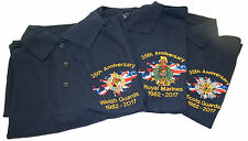 35th Falkland War Anniversary Custom Embroidered Polo Shirts Navy Blue S to 6XL