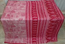 AU Pure silk Antique Vintage Sari Saree Fabric SCRAP 4y Su 1579 Qy #ABEHS
