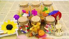Clear Glass Party Favor Canister Storage Jar Bottle Container with Cork 4 Shapes