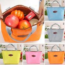 Insulated Lunch Storage Box Food Carry Tote Travel Outdoor Picnic Bag 5 Colors