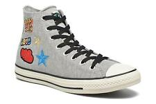 Men's Converse Chuck Taylor All Star Hi Patches M Lace-up Trainers in Grey