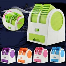 Portable Mini Fan Cooling USB Desktop Dual Bladeless Air Conditioner With Cable