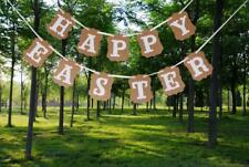 Happy Easter Theme Carrot Bunny Banner Hanging Garland Easter Party Decora
