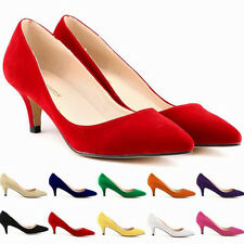 Womens Ladies Bridal Weeding Prom Party High Heels Classic Pumps Shoes Size