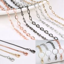 4 Styles Wholesale Chain For Floating Charm Glass Locket Necklace Link Pendant