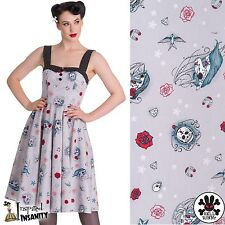 HELL BUNNY Zoey ~ Sugar Skull Unicorn Swing Dress ~ Pastel Punk Psychobilly 50s