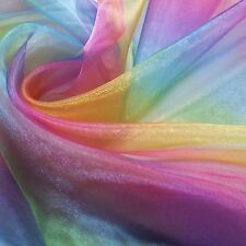 "SALE - Rainbow Organza (Voile) Fabric (Per Metre) - 60"" wide"